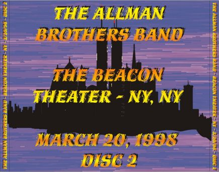 ABB - 3/20/98 - Disc 2 of 3 - Back Tray Insert - Beacon Theater - NY, NY