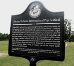 Atlanta Pop Festival Marker
